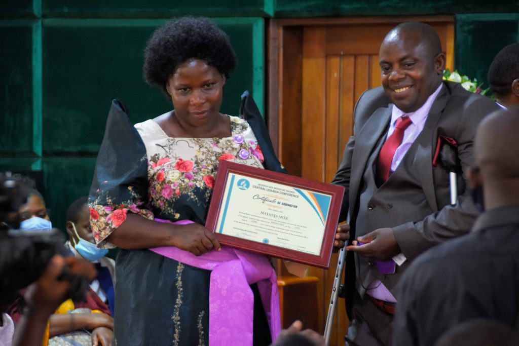Pr. Mayanja Mike was one of the ordinands